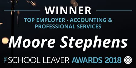 School leaver awards 2018 winner logo